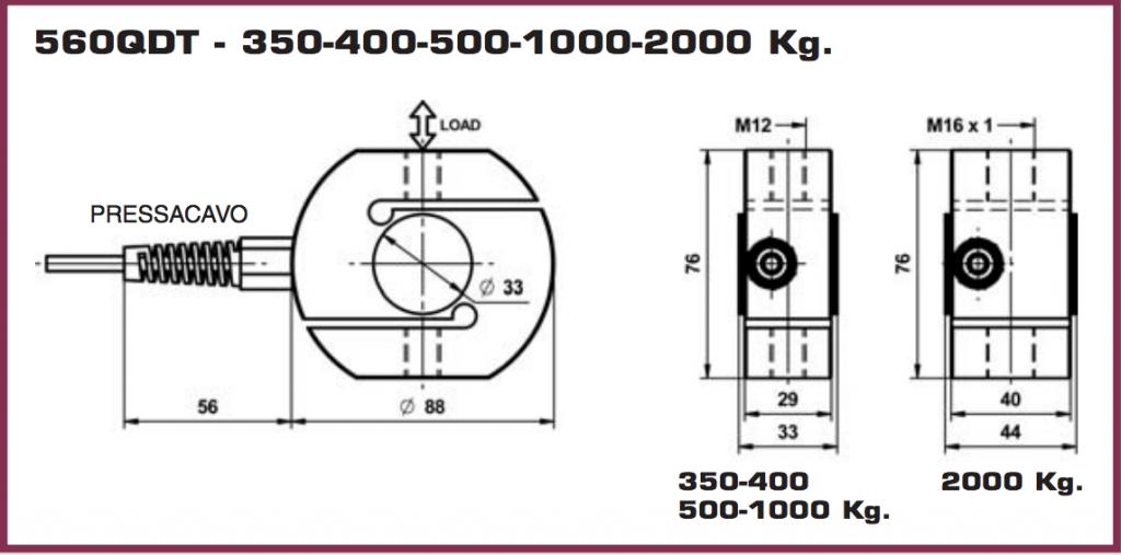 Ingombri dimensionali serie 560QD