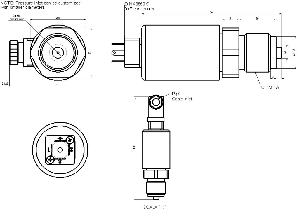 LP66x G12 dimensions