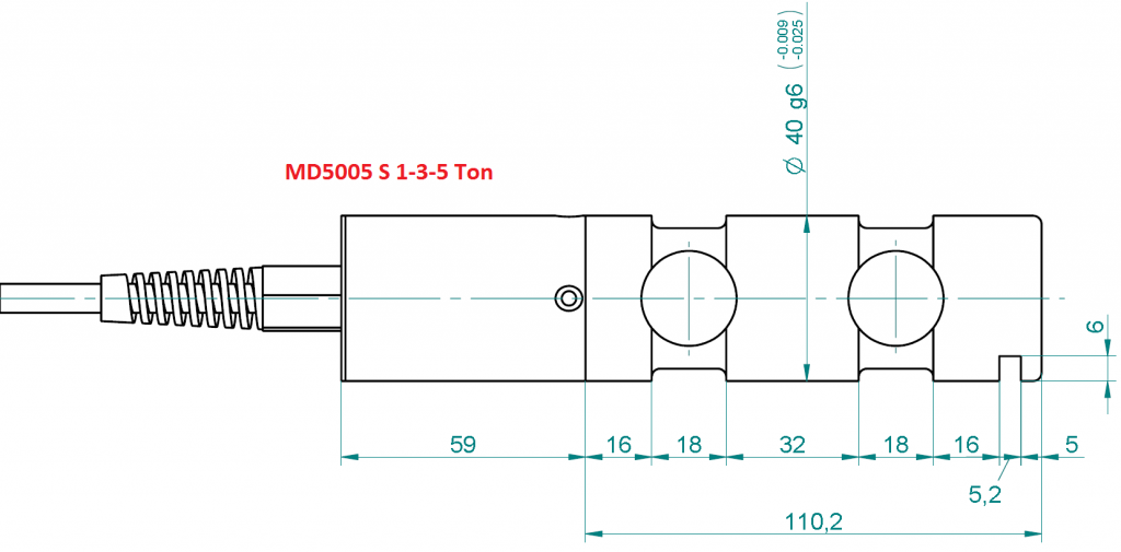 MD5005S Overall Dimensions