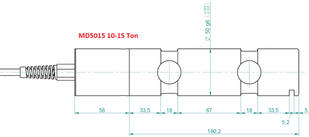 MD5015S Overall Dimensions