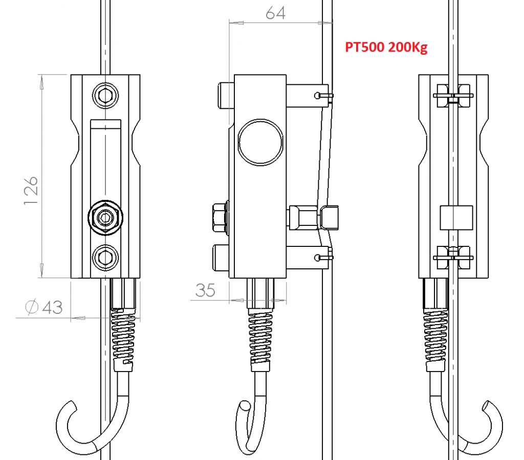 Pt500k200 misura tensione funi