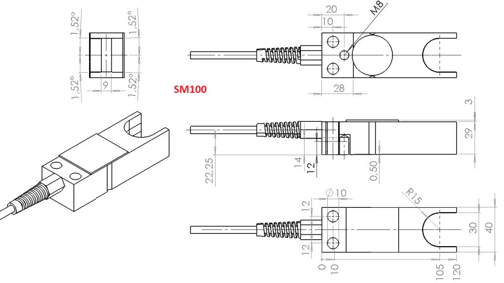 SM100 Overall dimesnions